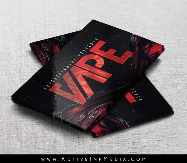 Red And Black Vape Business Card Template  Active Ink Media