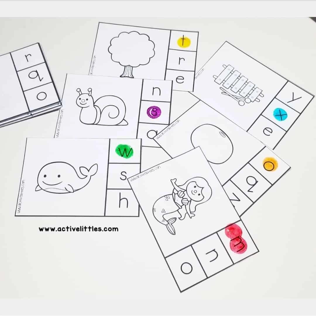 Alphabet Clip Cards Printable