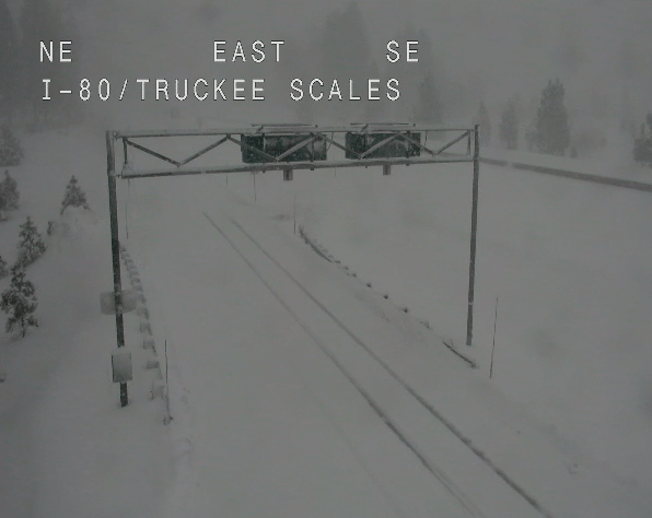 Whiteout Conditions Force Closure of Interstate 80 Over