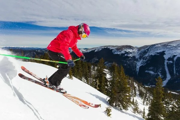 Advanced female skier at Taos Ski Valley, New Mexico