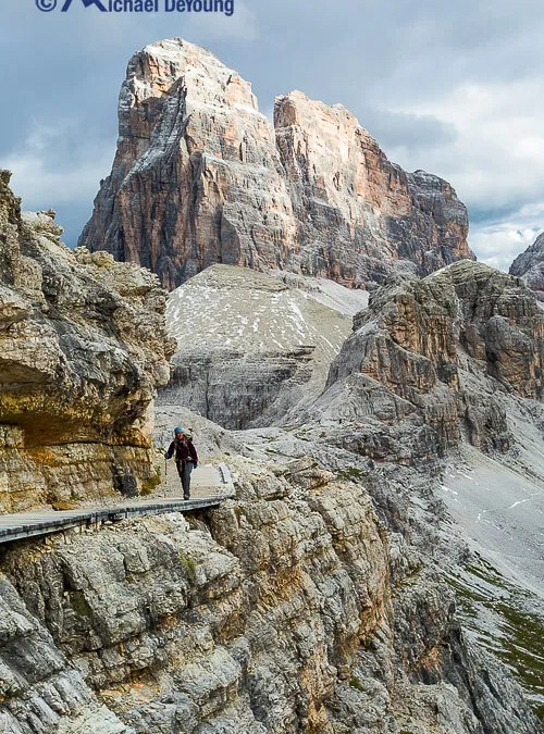 New Work:  Hiking in the Dolomites of Italy