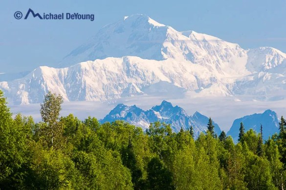 Mt McKinley (Denali) view from the Parks Highway near Talkeetna, Alaska
