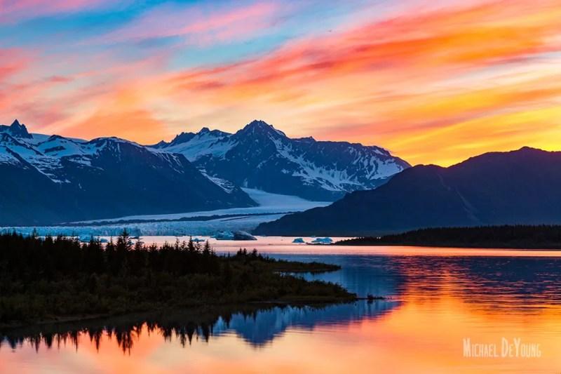 Alaska Landscape - Bear Glacier Kenai Fjords National Park by Michael DeYoung