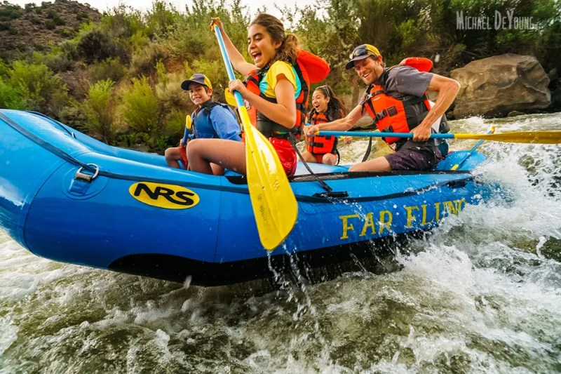 New Mexico Adventure - Family rafting Rio Grande outside Taos, NM by Michael DeYoung