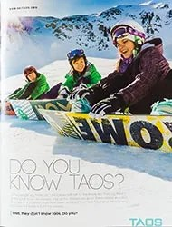 Taos Ski Valley Print Ad photographed by Michael DeYoung