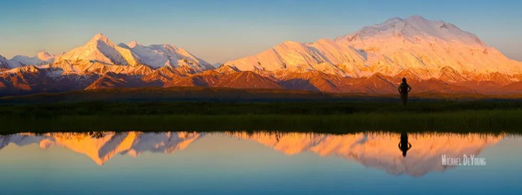 Morning glow on Denali (Mt. McKinley)