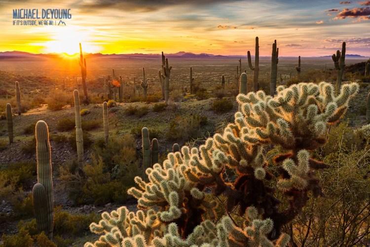 Sunset at Picacho Peak State Park - Tucson, AZ