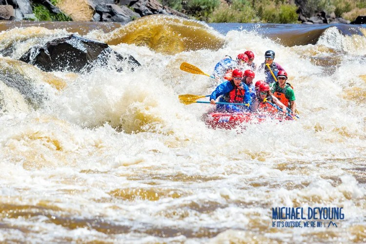 Whitewater rafting on the Rio Grande near Taos, NM