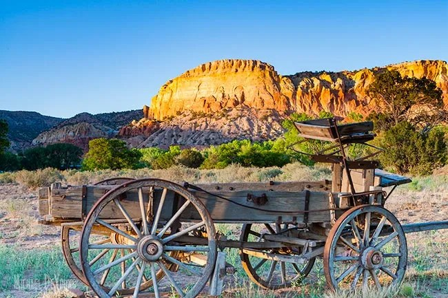 Wagon Wheel used for movies at Ghost Ranch
