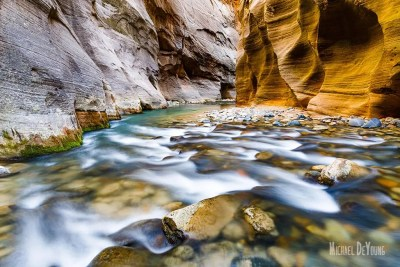 Virgin Narrows in Utah's Zion National Park - learn to see and capture similar landscape photos © Michael DeYoung