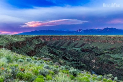 View of Rio Grande Gorge in spring