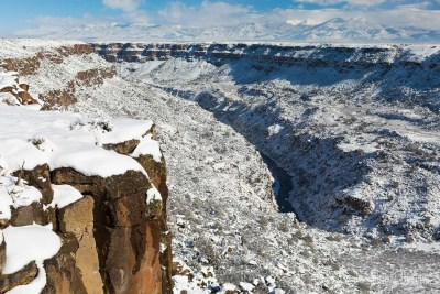 Rio Grande Gorge after a winter storm