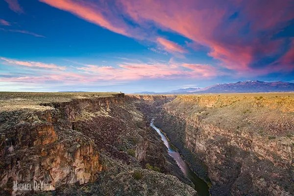 View of the Rio Grande Gorge located near Taos, NM