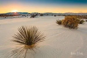 Sunset over New Mexico's Organ Mountains - White Sands National Park