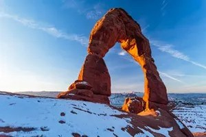 Winter in Arches National Park captured during Arizona Highway PhotoScapes Photography Workshop