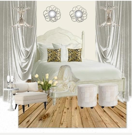 White Master Bedroom Retreat - by Kate Case, decorator and designer