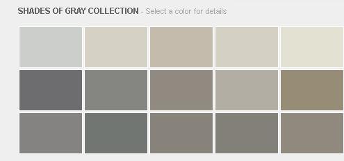 Benjamin Moore Shades of Gray Collection
