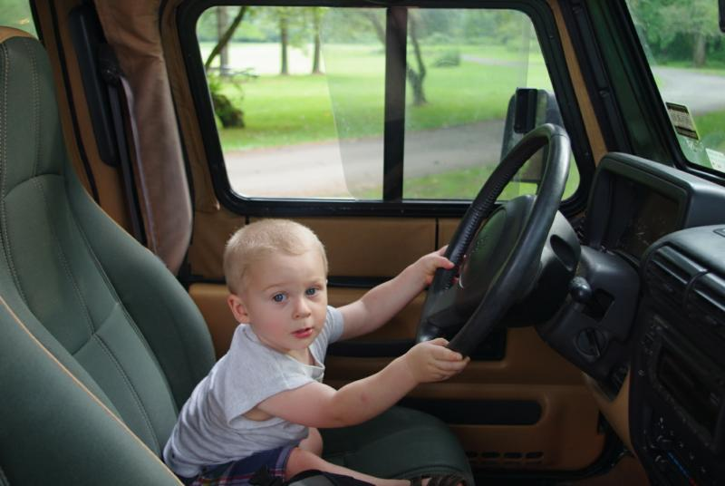 Driving the jeep