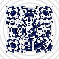distorted QR code