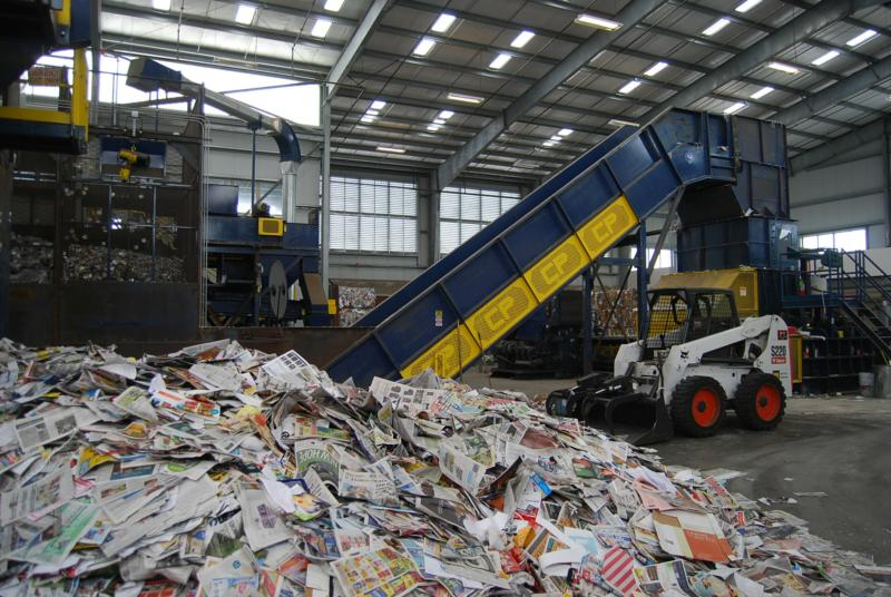 Eureka CA Recycling Center Sorting Machine
