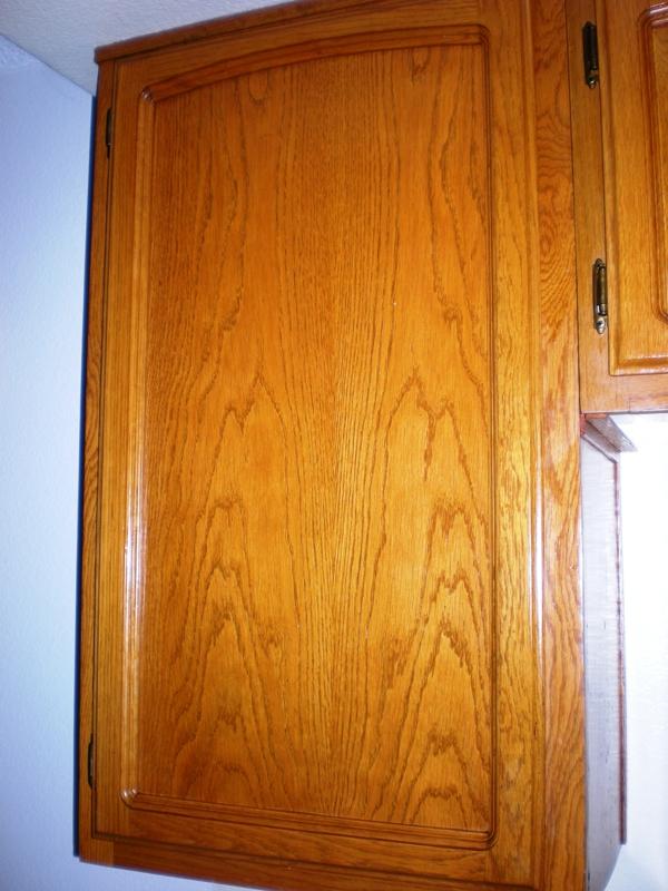 Oak Kitchen Cabinet After