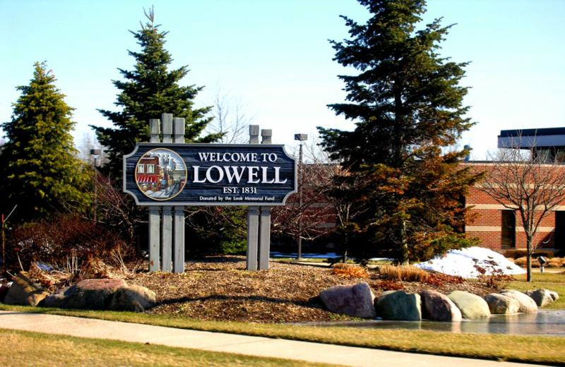 Lowell Michigan City Sign