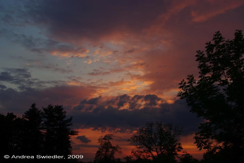 Sunset on Ridge Rd