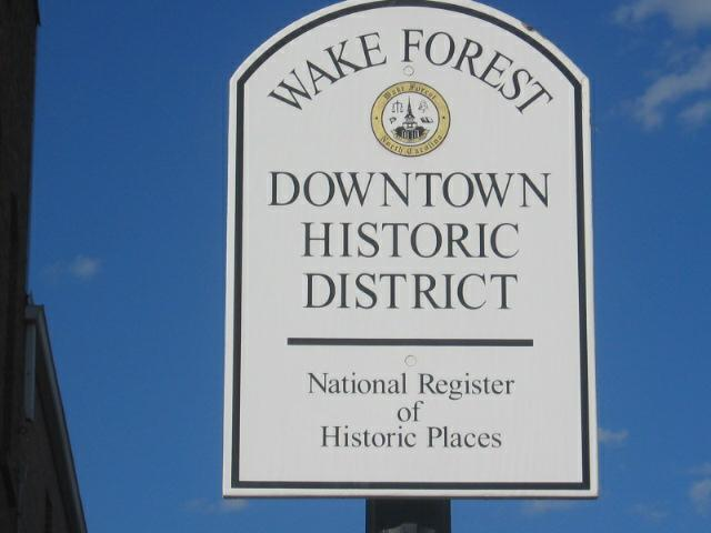 Historic Downtown Wake Forest NC