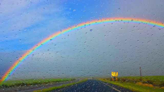Driving towards rainbows Maui