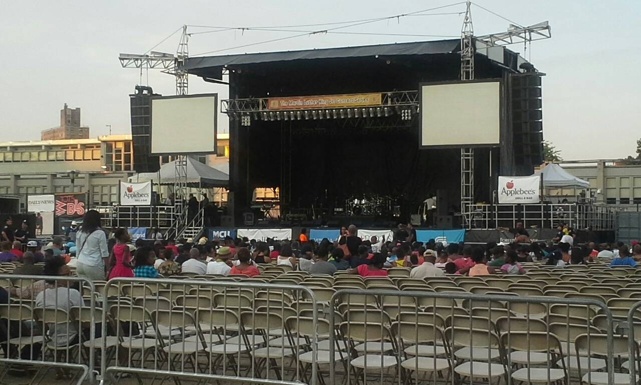 wingate park brooklyn stage, martin luther king jr summer concert series in flatbush brooklyn