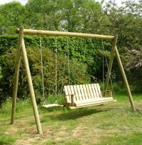 how to make a outdoor swing frame | jaewooding100