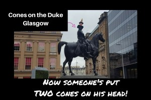 Cone on Duke Statue Glasgow