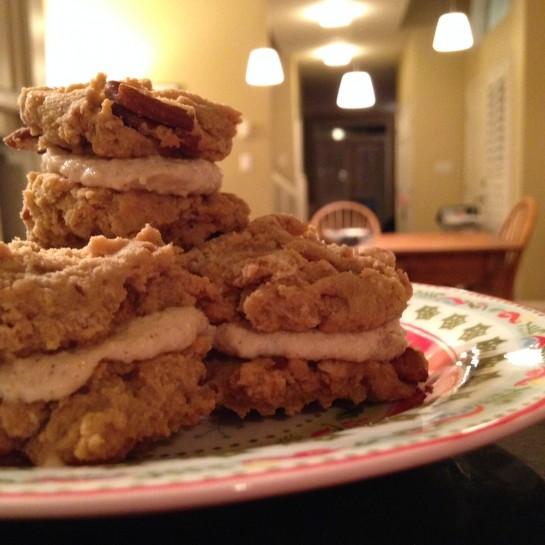 Maple Spice Sandwich Cream Cookies
