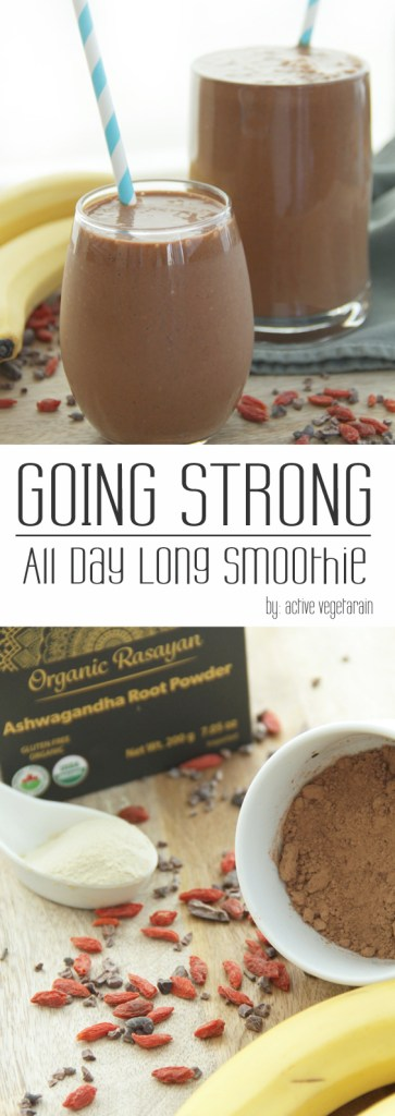Powerful Ashwagandha smoothie that increases stamina, reduces stress and fatigue and balances hormones
