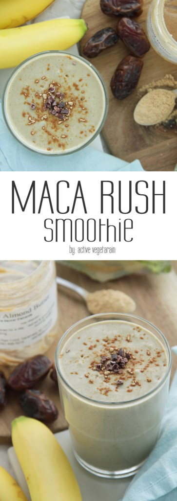 Today we are sharing a rich, creamy, perfectly sweet and nourishing post-workout smoothies – Maca Rush.