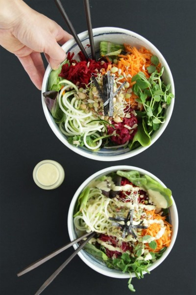 10 Minute Buddha Bowl With Creamy Cashew Sauce