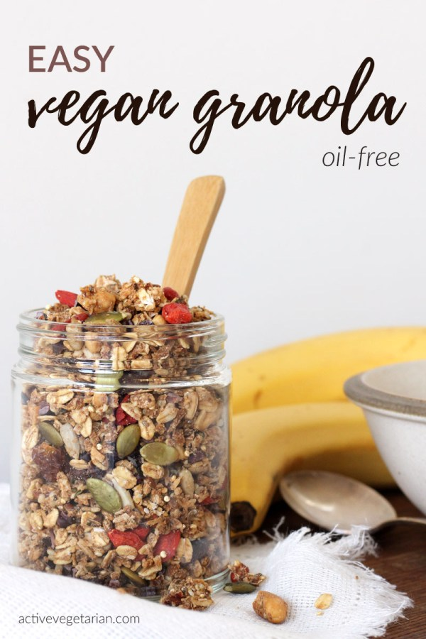 Easy Vegan oil free granola recipe