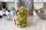 A Healthy homemade vegan quinoa salad is easy and quick lunch for vegetarian