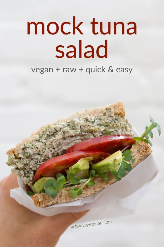 Vegan Mock Tuna Salad Recipe - PIN image
