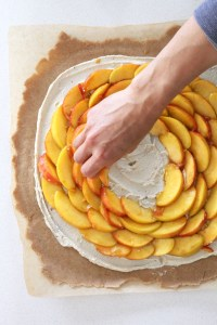 Peaches and Cream Vegan Galette by active vegetarian