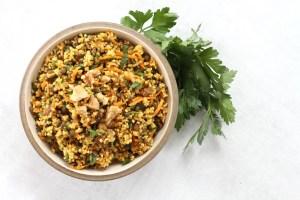 Easy Vegan Moroccan Millet Salad by active vegetarian