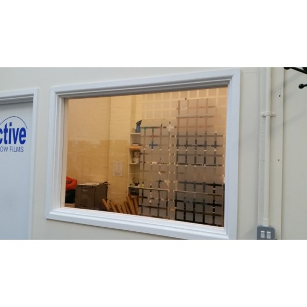 Small Frosted Bock Square Patterned Window Film