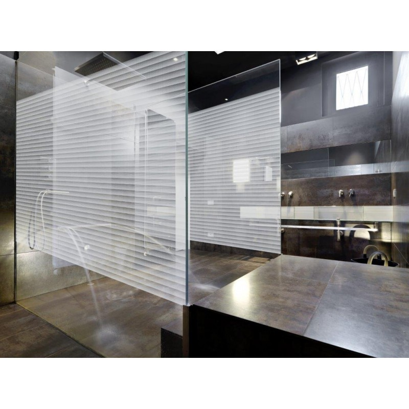 Patterned Decorative White Frosted Window Glass Film BOREL WHITE DOTS
