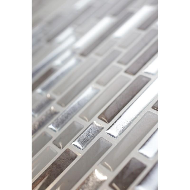 Chrome Grey Marble Beige Marble Luxury 3D Gel MOSAIC