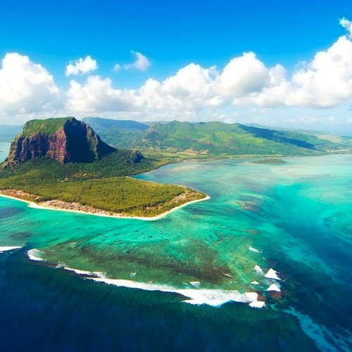 Mauritius z lotu ptaka