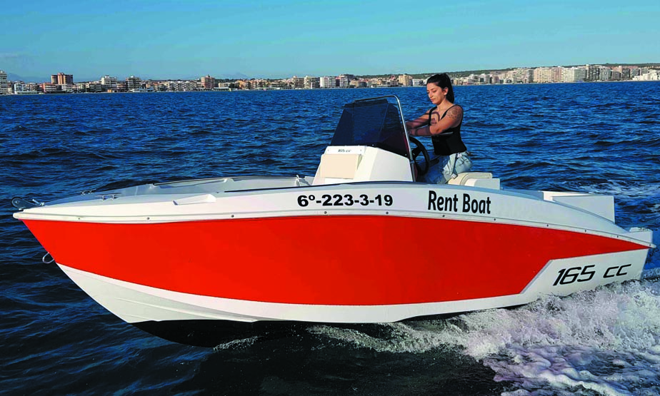 Boat rental without license in Torrevieja Alicante