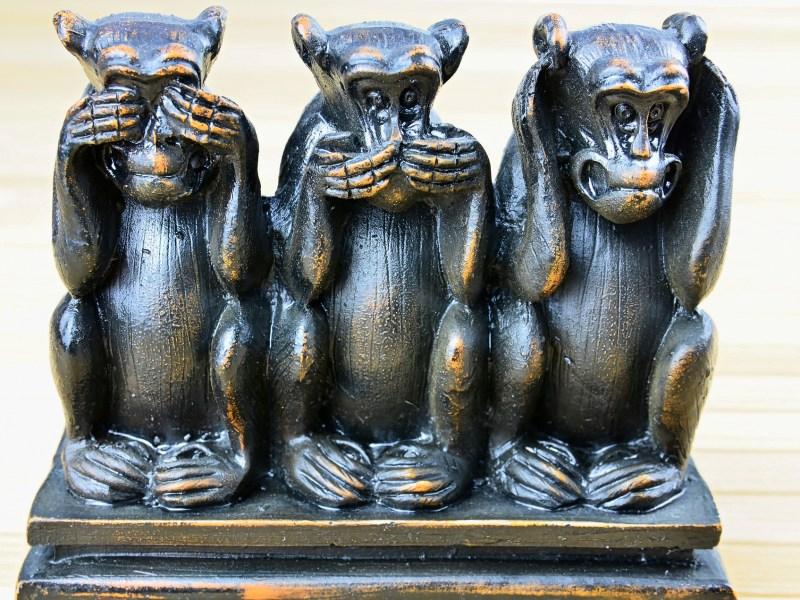 3 Monkeys - See No Evil, Hear No Evil, Speak No Evil