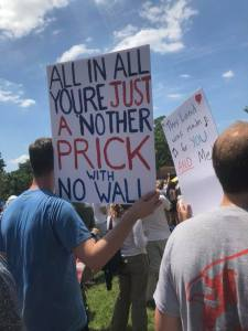 Protest Sign - Just Another Prick with No Wall