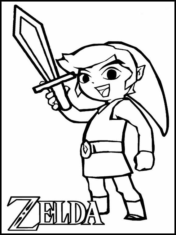 Zelda Coloring Book : zelda, coloring, Zelda, Coloring