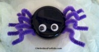 Pipe Cleaner Spiders Activity for Kids
